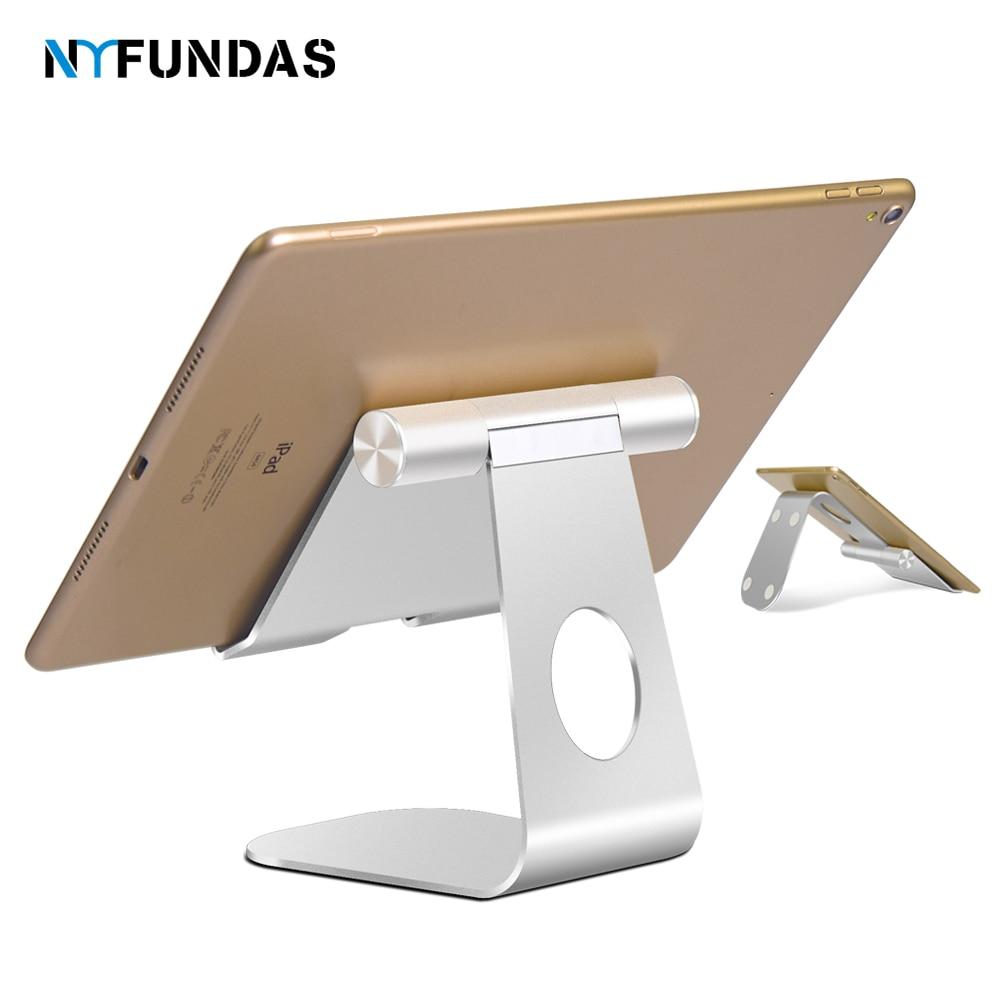 NYFundas Tablet Stand Adjustable Desktop Stand Holder Dock For Apple IPad 2018 Pro 9.7 10.5 Air Mini 4 3 2 Kindle Nexus Tab Para