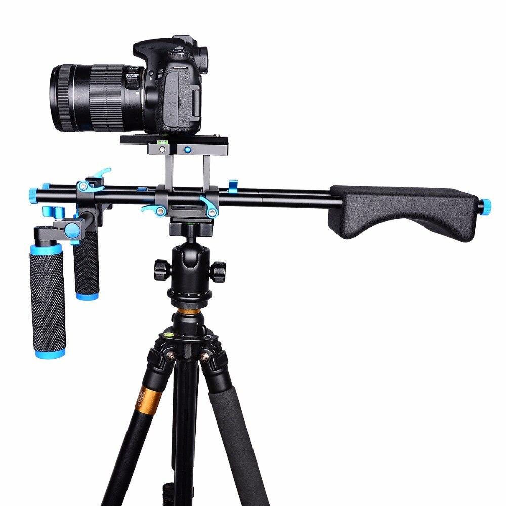 YELANGU D2 DSLR plate-forme Support de caméra tête de montage système de Support d'épaule vidéo portable 15mm Support de pince à tige