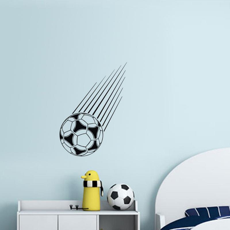Falling Football Wall Stickers Kids Bedroom Vinyl Wall Decals Removable Hollow Out Self Adhesive Wall Mural Decor