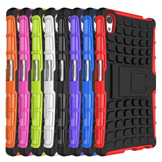 Hybrid Rugged Armor Military Style Phone Cases For Sony Xperia Z 5 Z5 E6603 E6633 E6653
