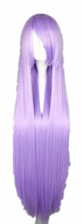 Fei-Show Straight Wig 100CM/40 Inches Synthetic Fiber Long Lilac Hair Salon Party Costume Cartoon Role Cos-play Women Hairpiece