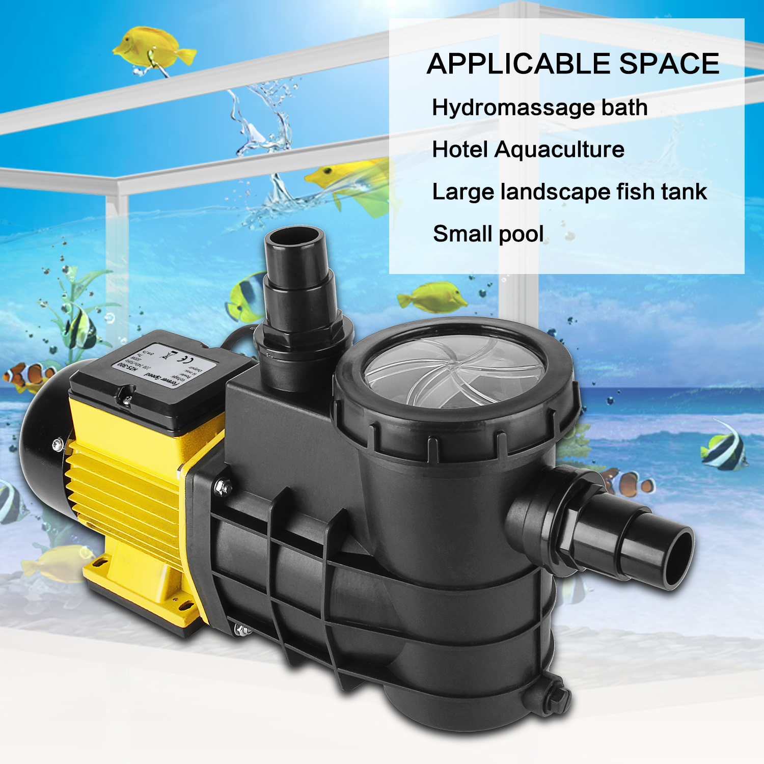 Forever Speed 8000L/h <font><b>Water</b></font> <font><b>Pump</b></font> Fish Tank Submersible for Swimming Pool Spa Freshwater Seawater Self-priming <font><b>Water</b></font>-<font><b>Pump</b></font> image