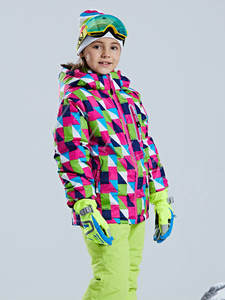 Dress Ski-Jacket Outdoor-Suit Girl's Winter Children's Mountaineering Waterproof Warm