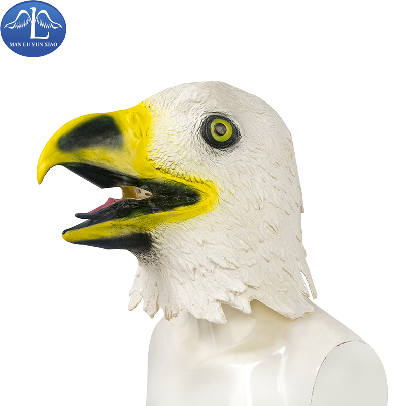 MANLUYUNXIAO Masquerade Eagle Mask Latex Animal Costume Prop Face Halloween Masks