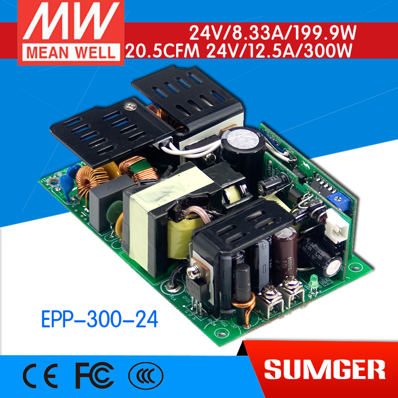 [Sumger2] MEAN WELL original EPP-300-24 24V 12.5A meanwell EPP-300 24V 300W Single Output with PFC Function [sumger2] mean well original epp 150 48 48v 2 1a meanwell epp 150 48v 100 8w single output with pfc function