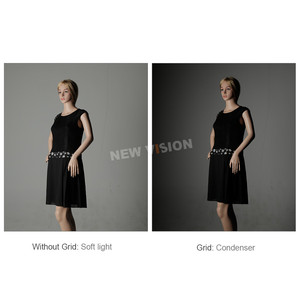 """Image 5 - Godox 50x130 cm/20 """"* 51"""" colmena panal RED DE Softbox Bowen para montaje en estudio flash DE300 DE400 SK300 SK400 DP600 QT600"""