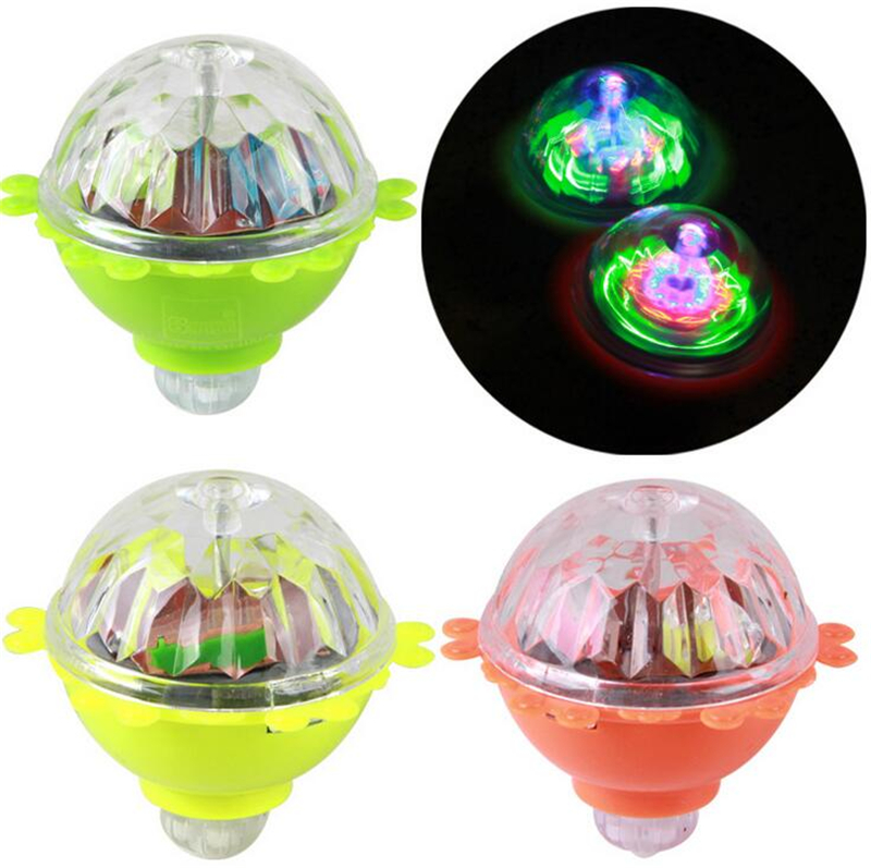 Toy Spinning Top : Laser color changing peg top led toy light spinning