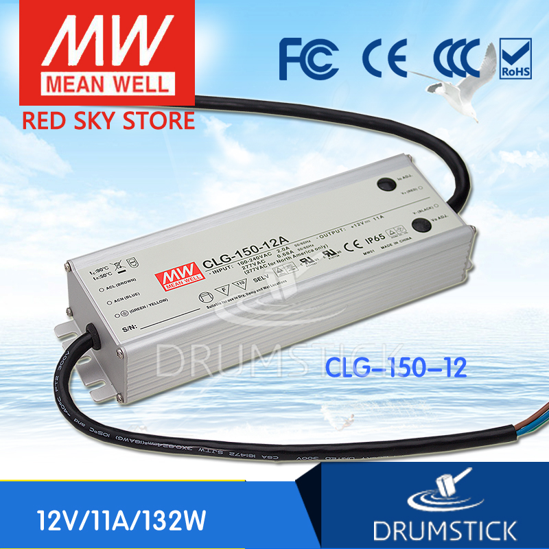 hot-selling MEAN WELL CLG-150-12 12V 11A meanwell CLG-150 132W Single Output LED Switching Power Supply [Real6] meanwell 12v 132w ul certificated clg series ip67 waterproof power supply 90 295vac to 12v dc