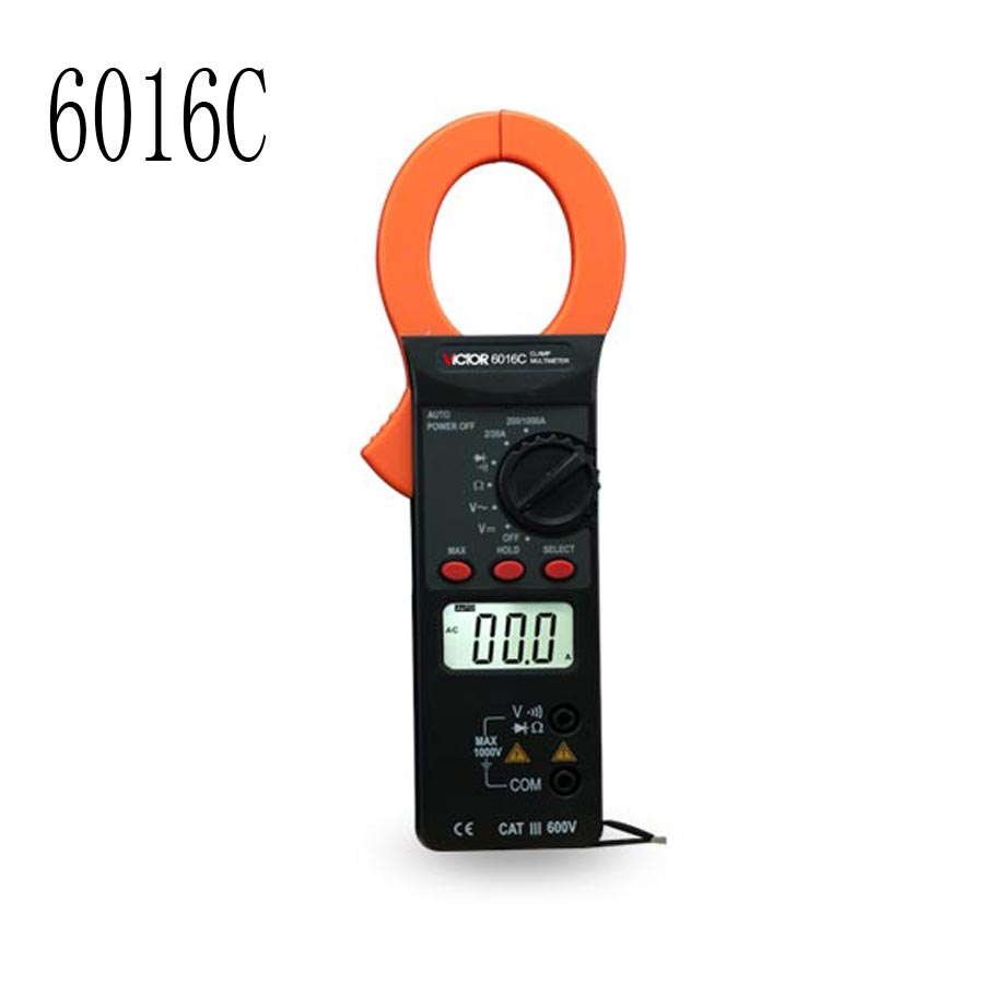 ФОТО 6016C Digital Clamp table,  Multimeter 3/4 Auto Range Temperature Tests streamline design and large LCD display