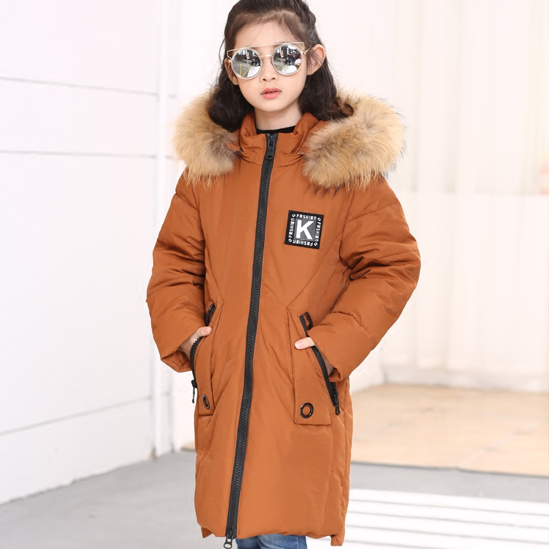New Girls Winter Jackets Kids Hooded Coats Thick  Children's Warm Parkas  Duck Down Jackets with Fur High Quality Outdoor 2017 children girls winter jackets kids hooded coats thick children s warm parkas girl winter coat with fur outdoor duck down
