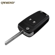 QWMEND Car Remote key shell For Opel Vauxhall Astra J Corsa E Insignia Zafira C For Chevrolet Cruze 2009-2015 HU100 Blade key qwmend car remote key shell for opel vauxhall astra j corsa e insignia zafira c for chevrolet cruze 2009 2015 hu100 blade key