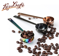 1 Pc Stainless Steel Handle Coffee/Tea Spoon Coffee Measuring Spoons Ice Cream Spoon Multipurpose Kitchen Tool
