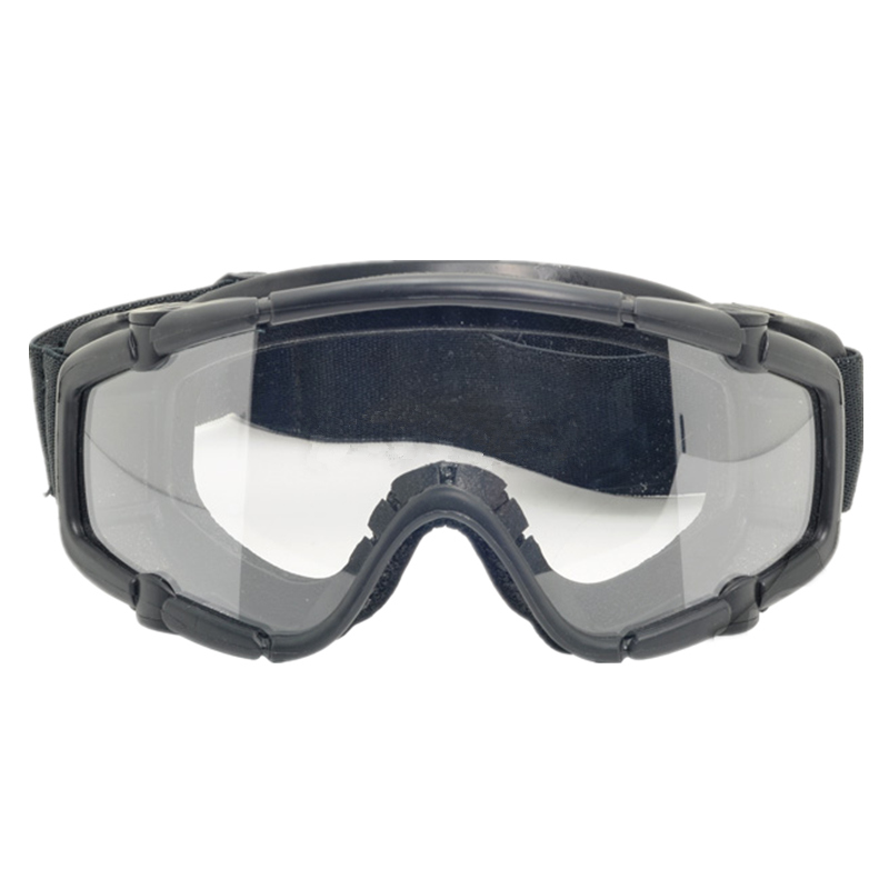 Tactical skiing safety goggle SI-Ballistic Goggle Black DE pink