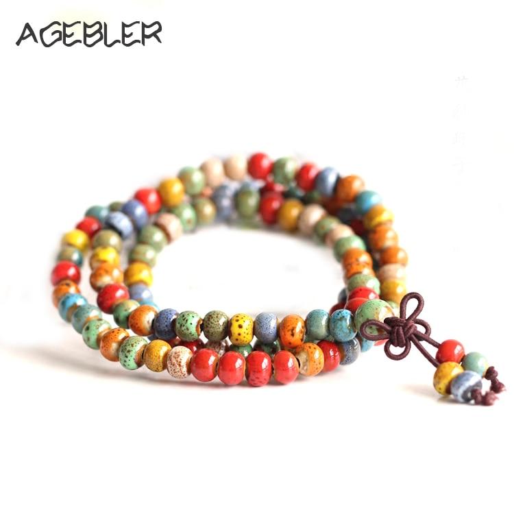 Bohême bracelets pour femmes Bijoux Bracelets et bracelets en céramique faits à la main de style ethnique perlé Accessoires