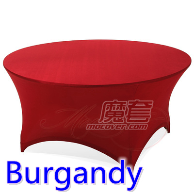 Spandex Table Cover Burgandy Color Round Lycra Stretch Table Cloth