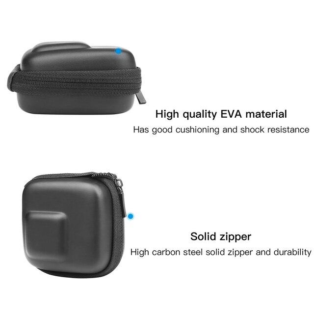 Custodia GoPro Hero 8 7 6 5 Nero Mini EVA di Protezione Caso Di Immagazzinaggio Del Sacchetto Scatola di Montaggio per Go Pro hero 8 7 5 Nero Accessori In Argento 2
