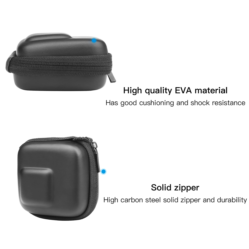 Image 2 - SHOOT for GoPro Hero 8 7 6 5 Black Mini EVA Protective Storage Case Bag Box Mount for Go Pro Hero 7 8 5 Black Silver Accessories-in Sports Camcorder Cases from Consumer Electronics