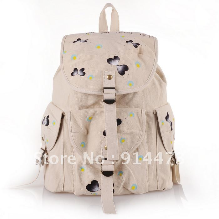 travel backpack two shoulder bags laptop bag preppy style school ...