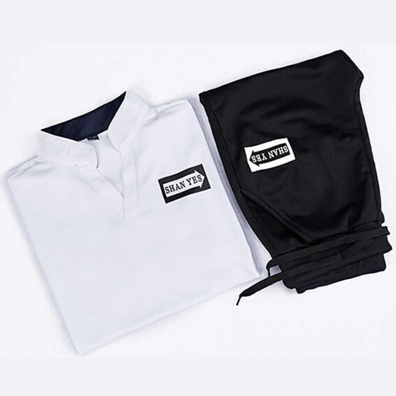 新 2018 夏 2 ピーストップ Tシャツカジュアル Tシャツブランドメンズ Tシャツファッションプリントレターメンズ Tシャツオムショートセットプラスサイズ