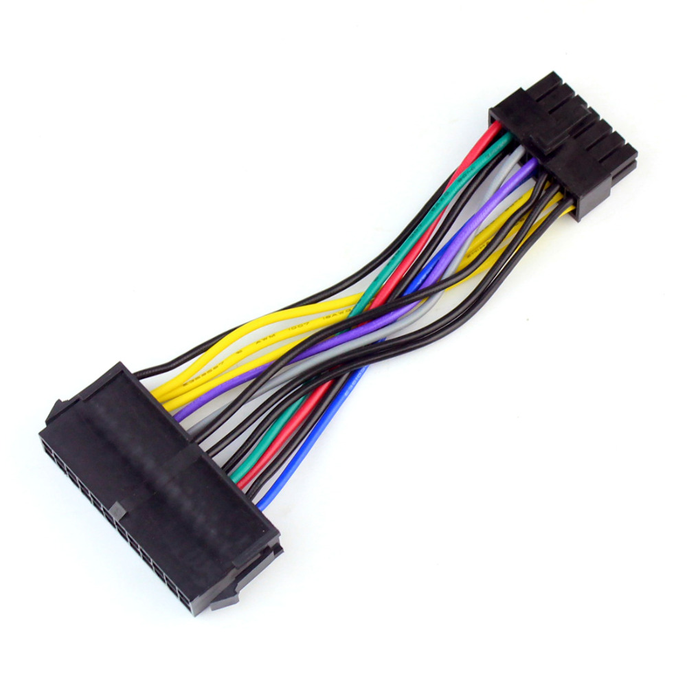Power Supply Cable Cord 18AWG Wire ATX 24 pin to 14 pin Adapter Cable for Lenovo IBM Dell Q77 B75 A75 Q75 Motherboard F20812