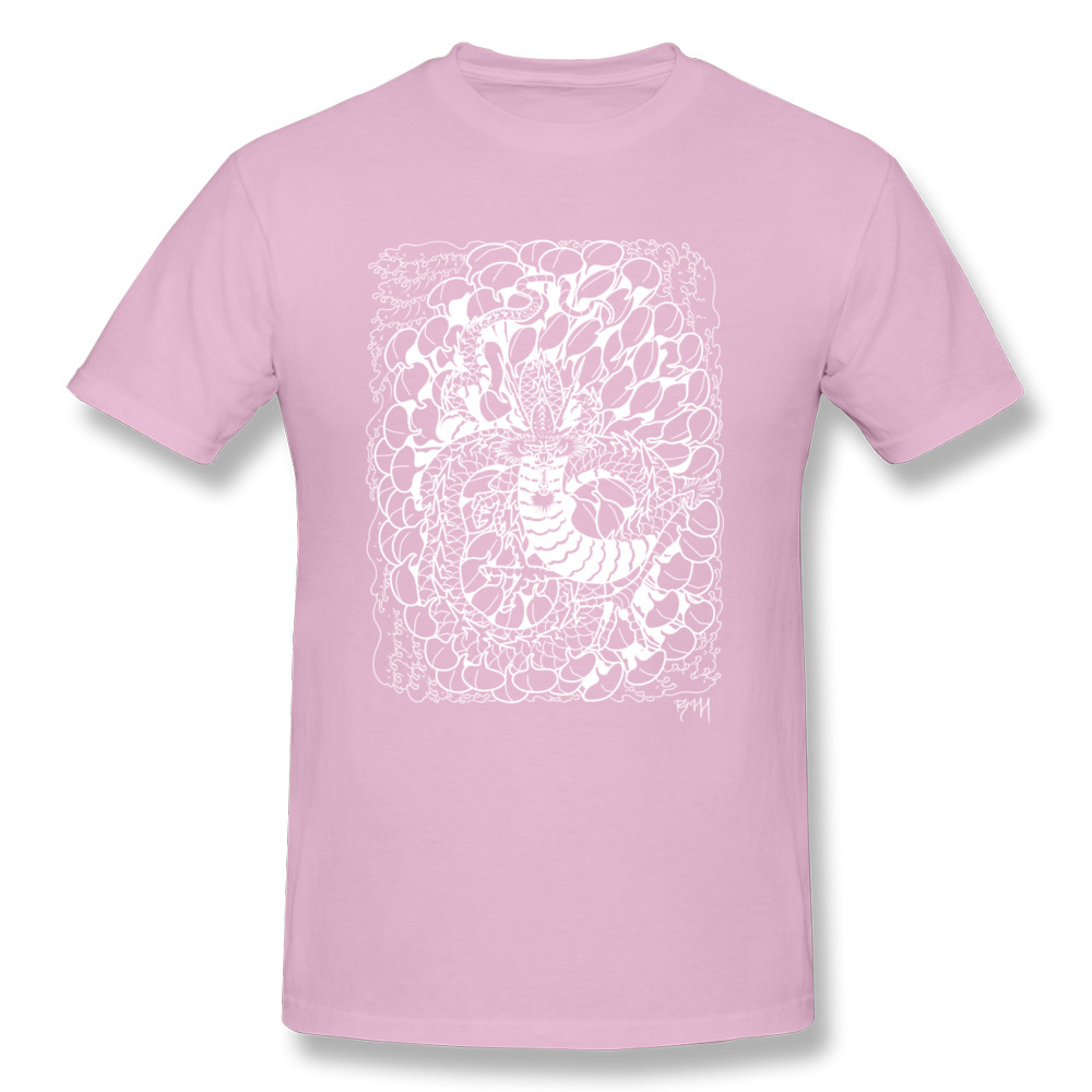 Chrysanthemum Dragon New Arrival Printing T Shirt O-Neck Autumn 100% Cotton Fabric Short Sleeve Tshirts for Men cosie Tee-Shirt Chrysanthemum Dragon pink