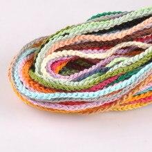 Lot de 10 cordons en Coton pour BRICOLAGE, différents coloris, 1m, Accessoires et sacs artisanaux, YKL0662