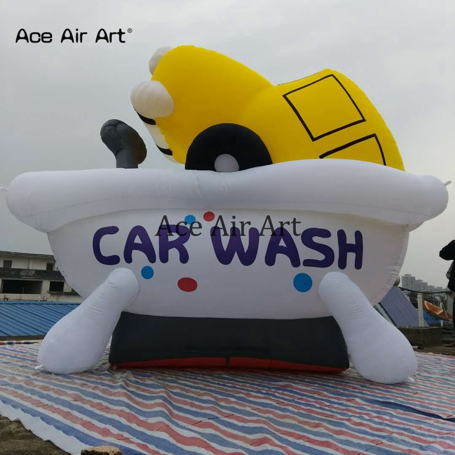 Newest Customization inflatable cartoon car wash for advertising and