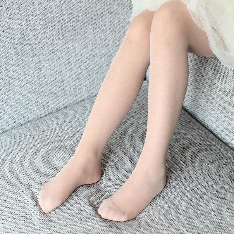 Meias de balé transparente collants doces cor branca carne para crianças criança verão novas crianças meninas meias collants
