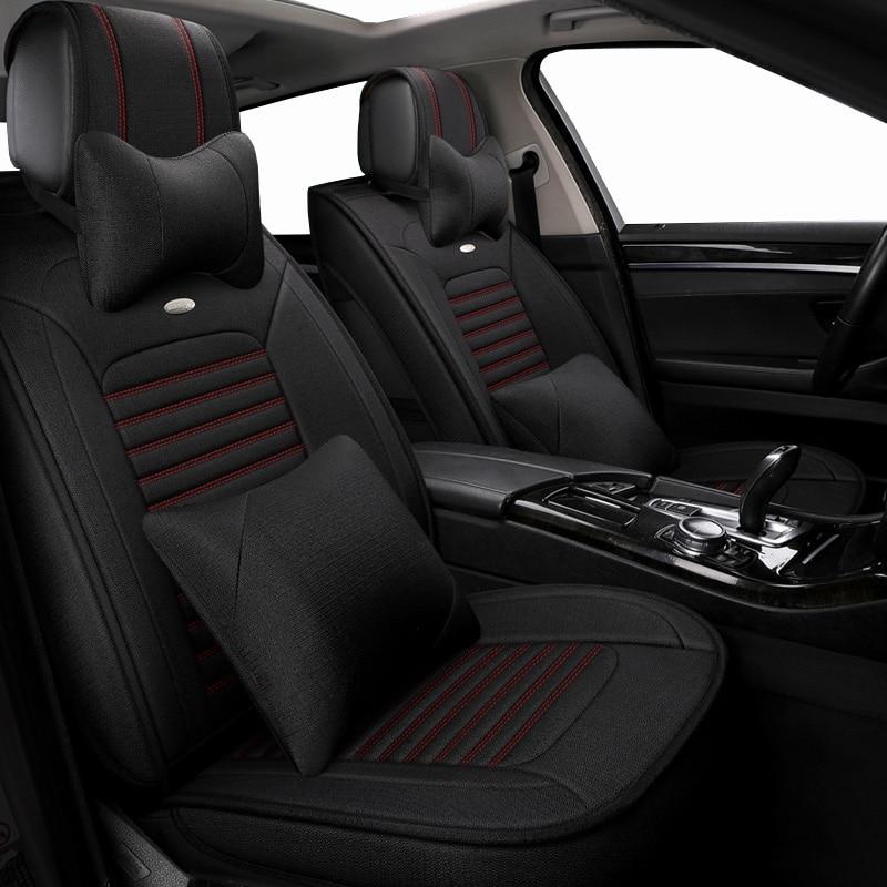 Automobiles universal Flax auto seat covers for Mazda 3 6 2 C5 CX 5 CX7 323