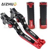 Motorcycle Clutch Brake Lever Adjustable+Handle Grips For Honda CBR1000RR FIREBLADE CBR 1000RR 1000 RR 2004 2007 2005 2006