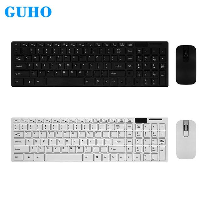 Guho Gaming Keyboard Mouse Combo Wireless 2 4g Ultra Slim Mute