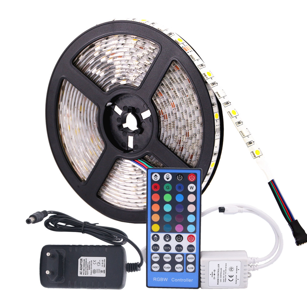 beilai smd 5050 rgb led strip waterproof dc 12v 5m 300led rgbw rgbww led light strips flexible. Black Bedroom Furniture Sets. Home Design Ideas