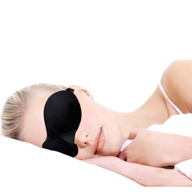 Sleep Eye Mask Sleeping Eye Blindfold Black Travel Sleep Aid Rest in Safety Goggles from Security Protection