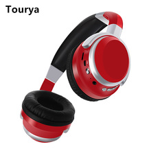 цены Tourya B9 Wireless Headphones Bluetooth Headphone Deep Bass Headset Adjustable With Mic Support SD Card For PC Cellphone Xiaomi