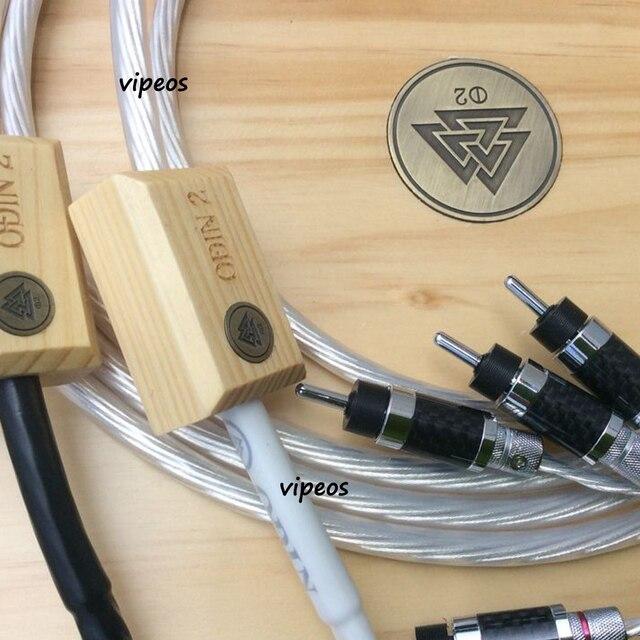 Une paire Nordost Odin 2 argent câble haut-parleur en fibre de carbone fiche banane ou fiche bêche 2.5 m