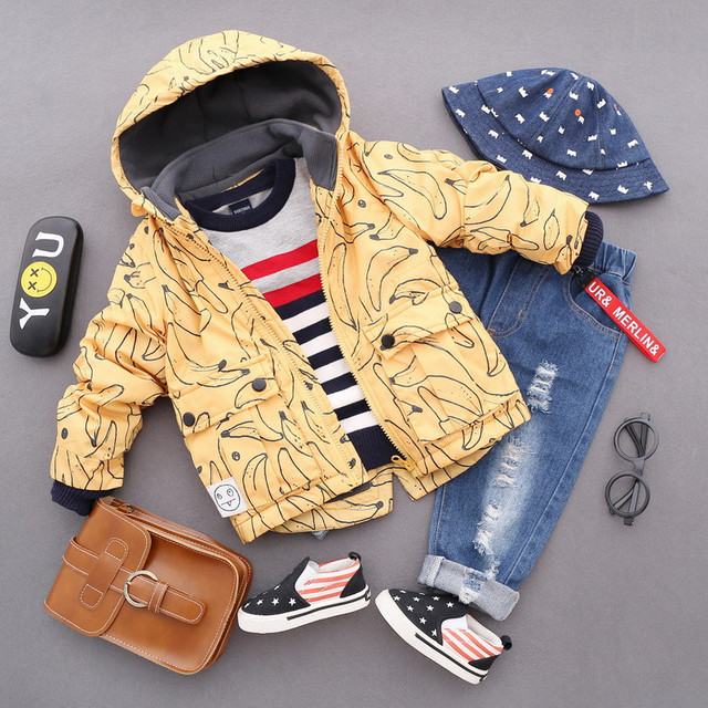 098982407 2 8T baby boy clothes girls boys coats and jackets 2018 new winter ...