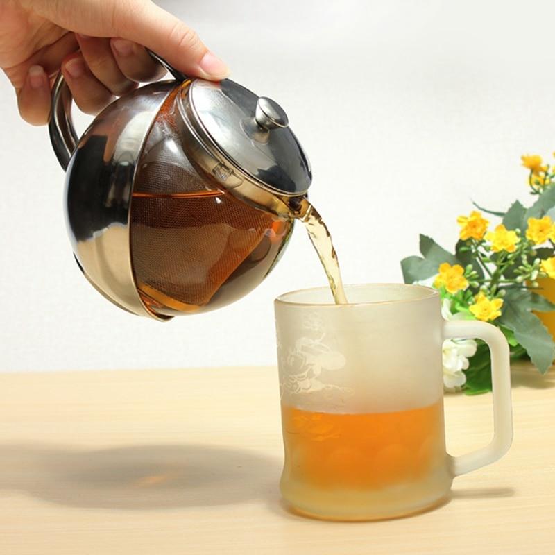 Tee Kaffee Wasserkocher Hause Edelstahl Glas Konfrontiert Teekanne ...