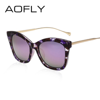 AOFLY New Cat Eye Sunglasses Fashion Vintage Summer Style High Quality Brand Design For Women Oculos
