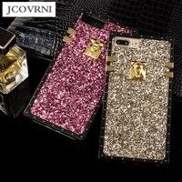 Jcovrniデラックスフラッシュ電話ケース用iPhone7 7プラスカラフルなtpuソフトシェルiphone 6 6プラス女性のバックカバーシェ