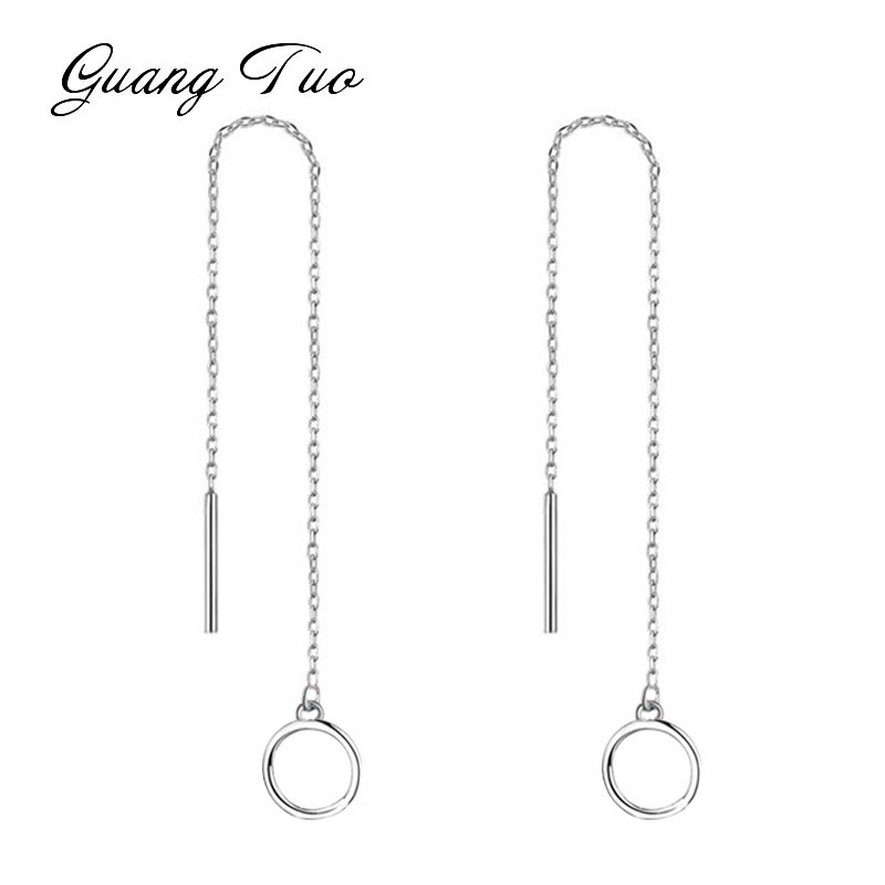 Es2186 Long Line Chain Drop Dangle Tassel Earrings Fashion Jewelry Ear Line Simple Round Earrings For Women Jewelry Female Gift Beneficial To Essential Medulla Jewelry & Accessories