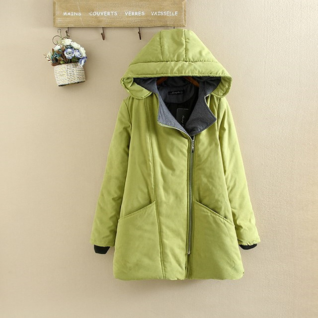 07526d7b42e XL-6XL Oversized Coats Casual Parkas Winter Women Hooded Wadded Padded  Jacket Female Maxi Coat Loose Plus Size Winter Coat