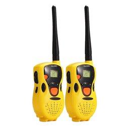 Pacote de dois handheld walkie talkie para crianças crianças brinquedo jogos educativos amarelo