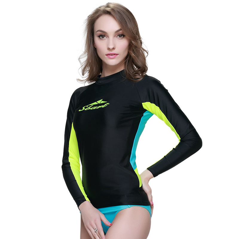 b3b8c4e6f Women's Long Sleeve Top Rashguard UV Sun Protection Skins Rash Guard Crew  Top Swim Shirt for Girls Female Lady-in Rash Guard from Sports &  Entertainment on ...