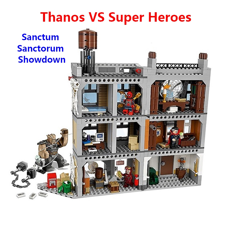 все цены на Compatible with lego 76108 Marvel Super Heroes Sanctum Sanctorum Showdown Sanctum Thanos IRON MAN Figures Building blocks toys