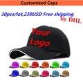 Comercio al por mayor 30 UNIDS/LOTE 250 DOLLAR Snapback Gorras de Béisbol de Encargo de Golf Sombreros Bordados Imprimir Su Logotipo