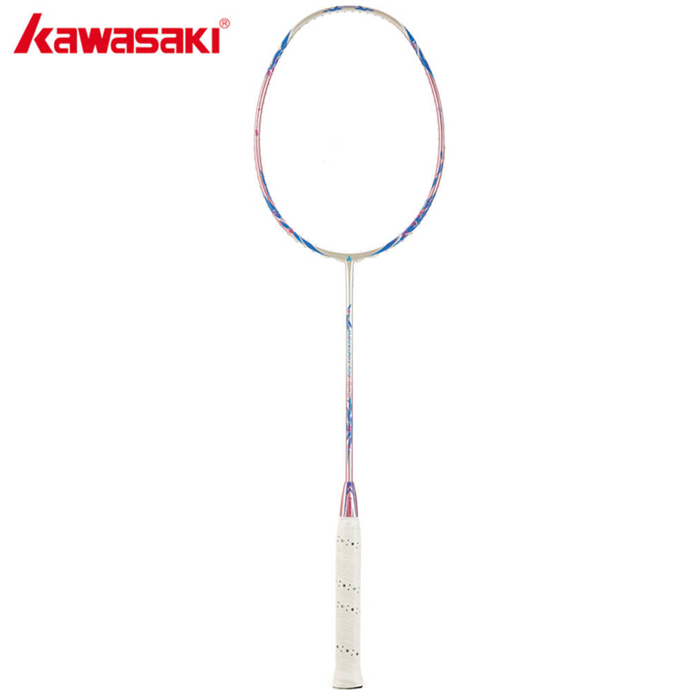 2019 Kawasaki Badminton Racket 30T Carbon Fiber Box Frame Racquet For Professional Players With High Elastic Shaft Porcelain 520