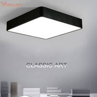 Ceiling Lights Luminaria Super Thin aluminum simple LED ceiling lamp square bedroom balcony study LED Lighting Fixture