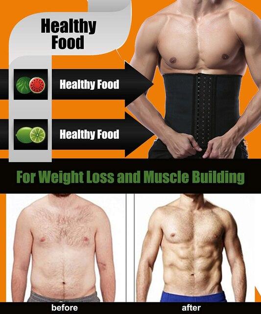 Mens 9 Steel Bone Waist Trainer Fitness Slimming Belt Sweat Neoprene Workout Body Shaper Fat Burner Trimmer Back Support Cincher 4