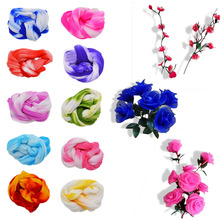 5Pcs/lot Multicolor Artificial Flowers Nylon Stocking Material Accessories Wedding Party Handmade Crafts DIY Wreath Supplies