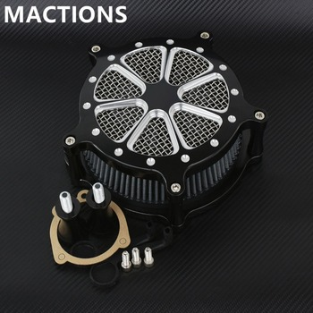Motorcycle Accessories CNC Aluminum Air Cleaner Intake Filter For Harley Sportster XL 883 1200 48 72 1991-2014